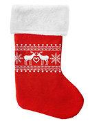 Skarpeta świąteczna czerwona-Incood