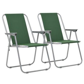 Składane krzesła turystyczne, 2 szt., 52 x 59 x 80 cm, zielone-vidaXL