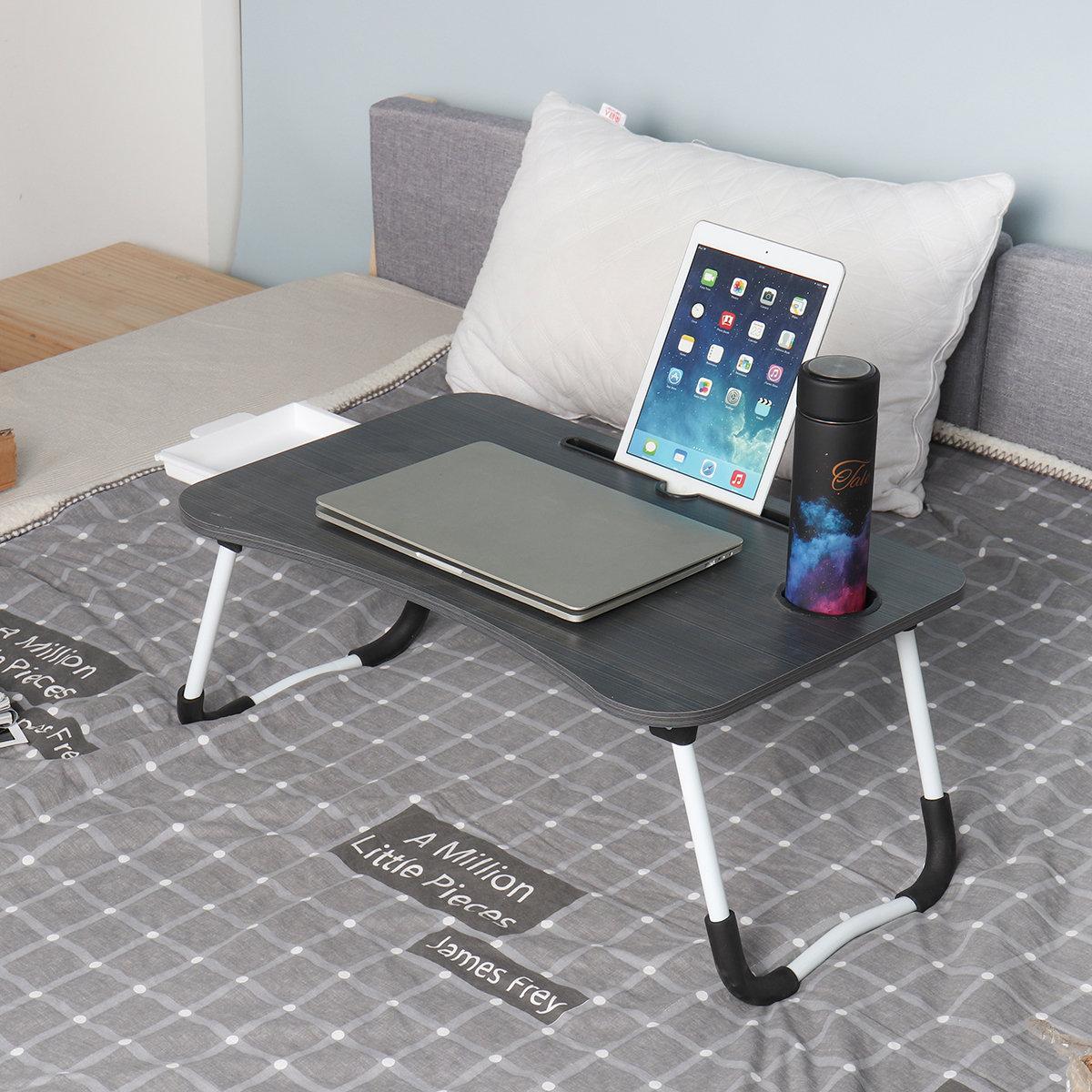 Składany stolik pod laptop podstawka + szuflada