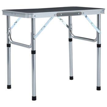 Składany stolik turystyczny, szary, aluminiowy, 60x45 cm-vidaXL