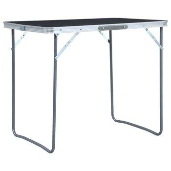 Składany stolik turystyczny z metalową ramą, 80x60 cm, szary-vidaXL