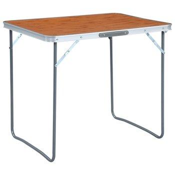 Składany stolik turystyczny z metalową ramą, 80x60 cm-vidaXL