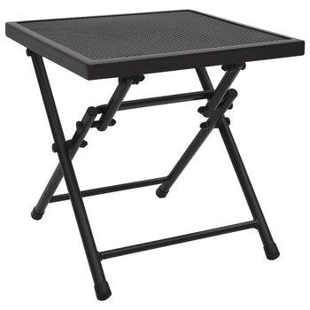 Składany stolik z siatką, 38x38x38 cm, stalowy, antracytowy-vidaXL