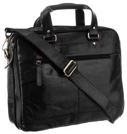 Skórzana torba na laptopa 14 cali Rovicky na ramie