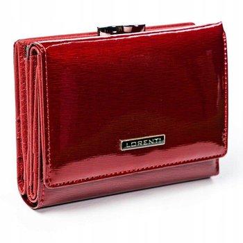 Skórzany portfel damski, lakierowany marki LORENTI-Lorenti