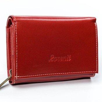 Skórzany portfel damski marki LORENTI®, zapinany na zatrzask-Lorenti