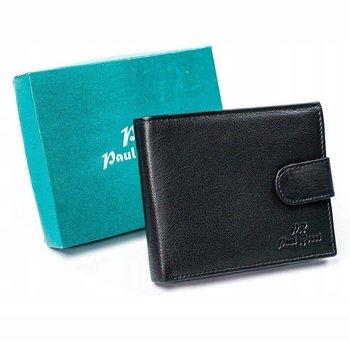 Skórzany portfel skórzany, poziomy, składany na zatrzask Paul Rossi-PELLUCCI