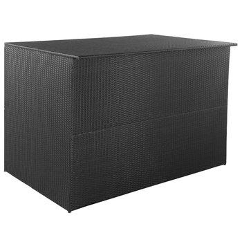 Skrzynia ogrodowa VIDAXL, czarna, 150x100x100 cm-vidaXL