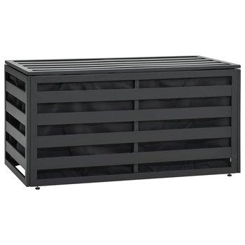 Skrzynia ogrodowa z aluminium, 100 x 50 x 50 cm, antracytowa-vidaXL