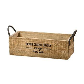 Skrzynka drewniana BOLTZE Supply, jasnobrązowa, 17,5x46x18,3 cm-Boltze