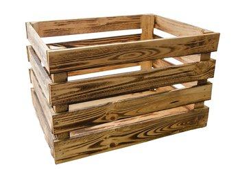 Skrzynka drewniana TAJEMNICZY OGRÓD L, brązowa, 50x40x30 cm-Tajemniczy ogród