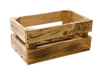 Skrzynka drewniana TAJEMNICZY OGRÓD S, brązowa, 32x20,5x16,5 cm-Tajemniczy ogród
