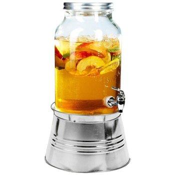 Słój słoik z kranikiem kranem do napojów lemoniady ze stojakiem stojak 3L-Vilde