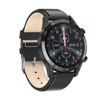 SM40/1-L13 PROMIS,Smartwatch męski,czarna koperta,czarny pasek skórzany-Promis