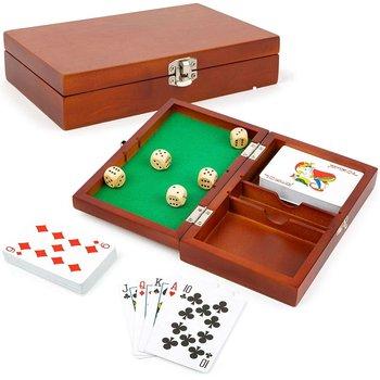 Small Foot 11363 Zestaw do gry w karty i kości w drewnianym pudełku-small foot