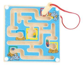 Small foot, zabawka edukacyjna Magnetyczny mini labirynt, niebieski-small foot