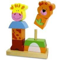 Smily Play, Klocki drewniane Piramidkowe zwierzaki