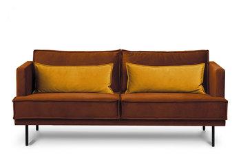 Sofa 3 GANZO *pomarańczowy/żółty, 196x84x92, tkanina -Konsimo