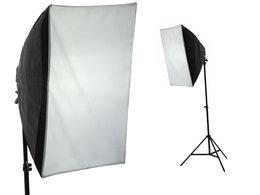 Softbox 40x40cm + Lampa + ŻarÓwka 600w / 125w + Statyw