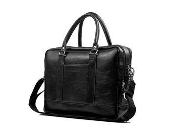 804ed42e7351e Solier, torba męska SL02 Aberdeen na ramię, skórzana, czarna ...