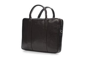 f204437f6f006 Solier, torba męska SL20 Edynburg na laptopa, skórzana, brązowa ...