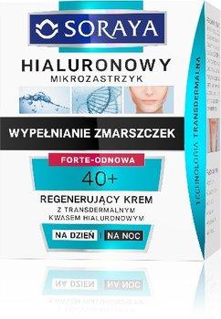 Soraya, Hialuronowy Mikrozastrzyk, krem regenerujący 40+ na dzień i noc, 50 ml-Soraya