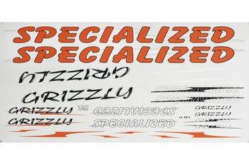 Specialized, Zestaw naklejek KR4, pomarańczowo-biały, 22 szt.-SPECIALIZED