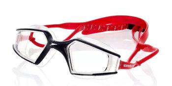 Speedo, Okulary do pływania, Aquapulse Max, czerwone, rozmiar uniwersalny-Speedo