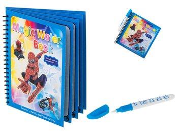 Spiderman, książeczka wodna z mazakiem, niebieska-Spider-Man
