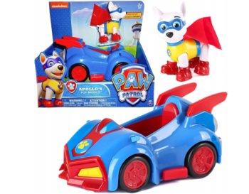 Spin Master, Paw Patrol, figurka Apollo z samochodem-Spin Master