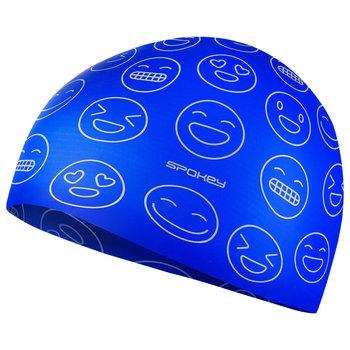 Spokey, Czepek pływacki dla juniora, EMOJI, niebieski, rozmiar uniwersalny-Spokey