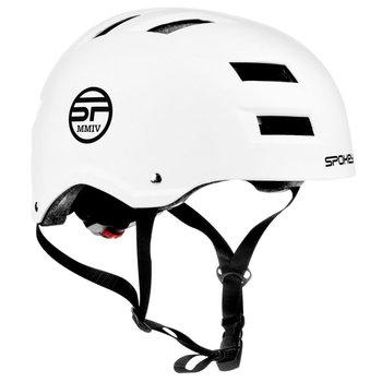 Spokey, Kask rowerowy BMX, NINJA, biały, rozmiar XL-Spokey