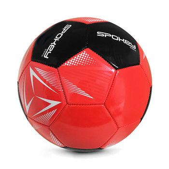 Spokey, Piłka nożna Stencil RD, BK, rozmiar 5, czerwony-Spokey