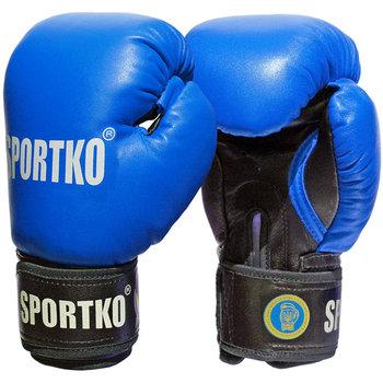 SportKO, Rękawice bokserskie PK1, niebieski, 10 uncji-SportKO
