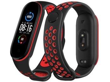 Sportowy pasek opaska Alogy do Xiaomi Mi Band 5 czarno-czerwony-Alogy