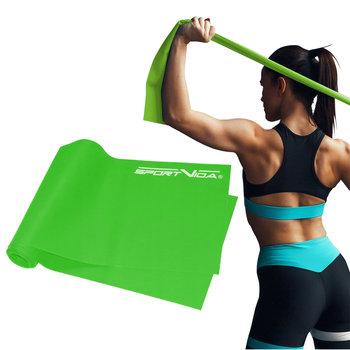 SportVida, Taśma treningowa, zielony, 200 cm-SportVida