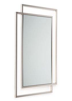 Srebrne lustro ścienne Vido Silver 110x80 cm-HowHomely