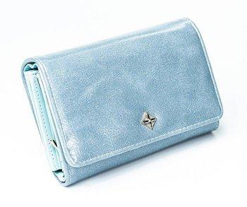 Średniej wielkości portfel damski ze skóry eko zatrzask Milano Design-Milano Design