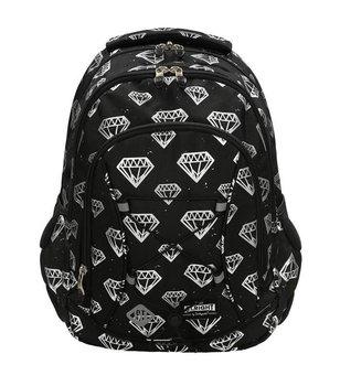 St.Majewski, plecak młodzieżowy, Diamenty, czarny-St.Majewski