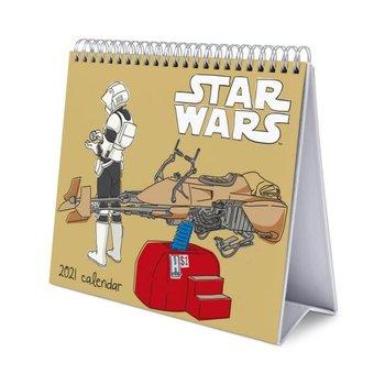 Star Wars Classic - biurkowy kalendarz 2021 17x20 cm