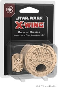 Star Wars, gra towarzyska X-Wing Galactic Republic Maneuver Dial Upgrade Kit (druga edycja) - Star Wars