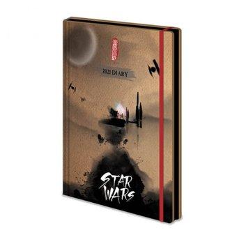 Star Wars Japanese - dziennik B6 Kalendarz 2021 13x19 cm-Star Wars