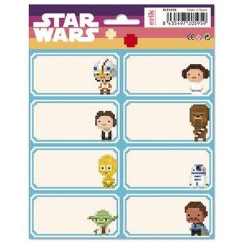 Star Wars - naklejki na zeszyt 16x20 cm-Star Wars gwiezdne wojny