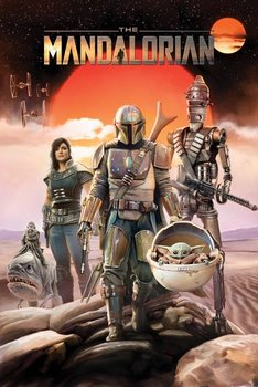Star Wars The Mandalorian Group - plakat 61x91,5 cm - Pyramid Posters