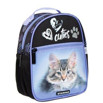 Starpak, plecak szkolny, Kitty, czarno-fioletowy-Starpak