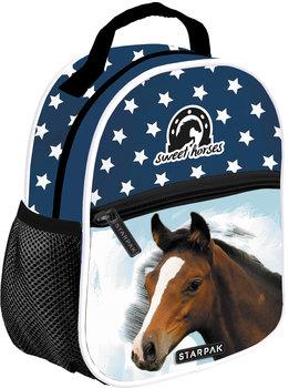 Starpak, plecak szkolny, konie, granatowy-Starpak