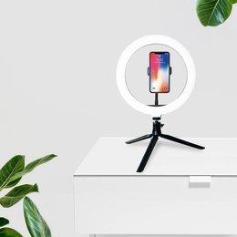 Statyw z lampą pierścieniową LED 2,1m do nagrywania filmów, makijażu