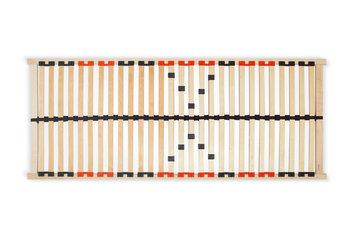 Stelaż do łóżka ARTUS czarny/czerwony, 90x200x3, drewno brzozowe/bukowe -Konsimo