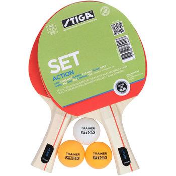 Stiga, Zestaw do ping ponga, Action 1824 01, 5 elem.-Stiga