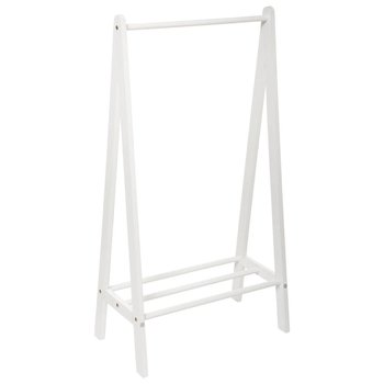 Stojak na ubrania dla dzieci z półką, biały, wys. 115 cm-Atmosphera for kids